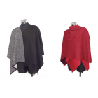 Alpaca Reversible Knitted Capes - 100% Baby Alpaca